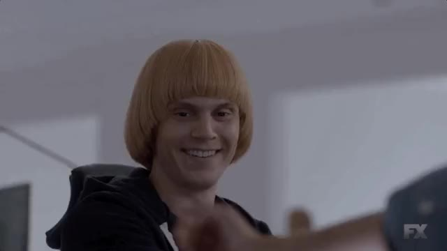 Watch Evan Peters as Jeff GIF on Gfycat. Discover more american horror story, annoyed, aww, celebs, evan peters, excited, funny, goodbye, jihyo, kpop, produce48, smile, twice, what GIFs on Gfycat