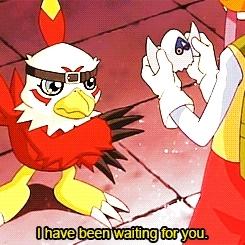 202, digimon, digimon adventure 02, hawkmon, inoue miyako, Digimon // aaaa GIFs