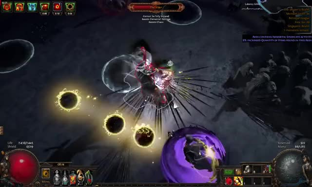 Watch and share [3.5] Path Of Exile Uber Elder Shattering Steel Tank GIFs on Gfycat