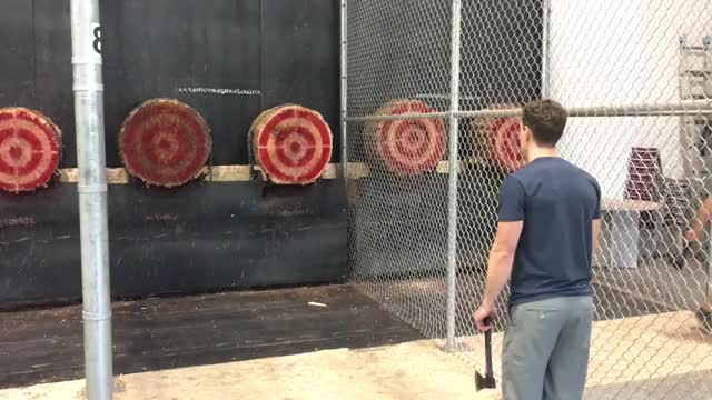 Watch Double bullseye axe throw GIF on Gfycat. Discover more awesome, axe throwing GIFs on Gfycat
