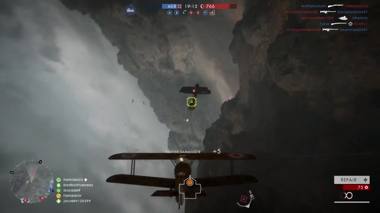battlefield_one, ps4share, sony interactive entertainment, Dogfight through the pass GIFs