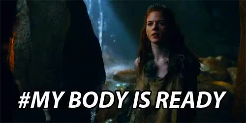 Watch and share My Body Is Ready GIFs and Rose Leslie GIFs on Gfycat