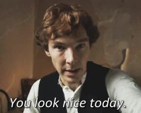 Watch and share Benedict Cumberbatch You Look Nice Today Gif GIFs on Gfycat
