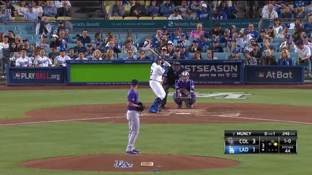 Watch and share Los Angeles Dodgers GIFs and Colorado Rockies GIFs by r_amore on Gfycat