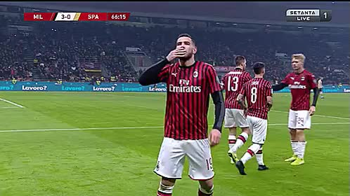 Watch and share Theo Hernandez GIFs and Ac Milan GIFs by nanook on Gfycat