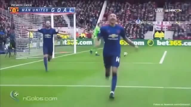 Watch and share Jesse Lingard Amazing Goal Middlesbrough Vs Manchester United 2017 Future GIFs on Gfycat