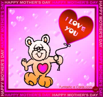 Watch and share Mothers Day Greeting Cute Teddy Balloon Loving Anime GIFs on Gfycat