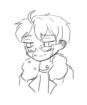 a slightly old animation with crying Alfie