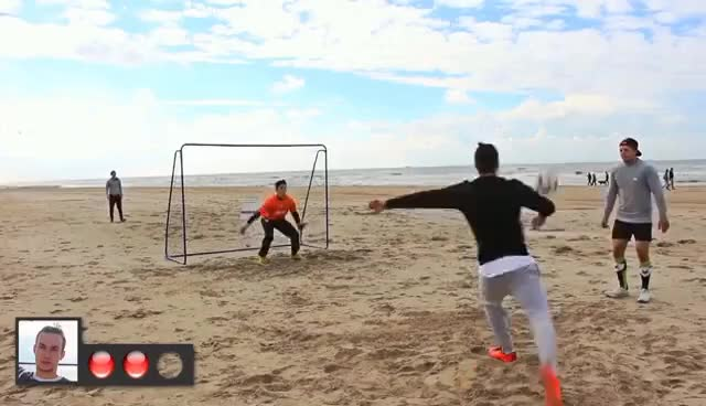 Watch and share FUßBALL CHALLENGE AM STRAND ! GIFs on Gfycat
