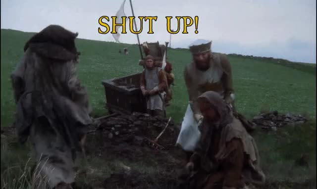 Watch Help! Help! I'm being repressed! GIF by @commish0861 on Gfycat. Discover more Holy Grail, Monty Python, ProtectAndServe GIFs on Gfycat