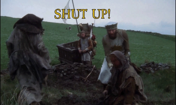Holy Grail, Monty Python, ProtectAndServe, Help! Help! I'm being repressed! GIFs