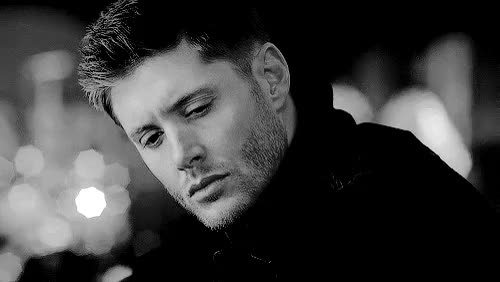 Watch this GIF on Gfycat. Discover more Dean Winchester, Jensen ackles, black and white, deanwinchester, jensenackles, sam and dean, supernatural, weheartit GIFs on Gfycat