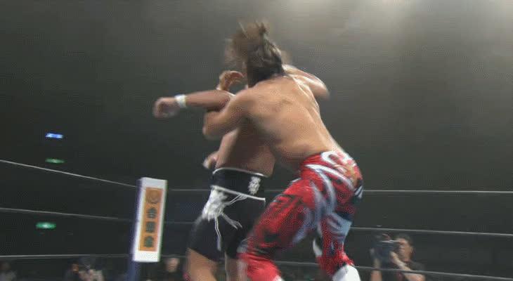 squaredcircle, [NJPW G1 SPOILERS] Hiroshi Tanahashi vs. Tomohiro Ishii GIFs