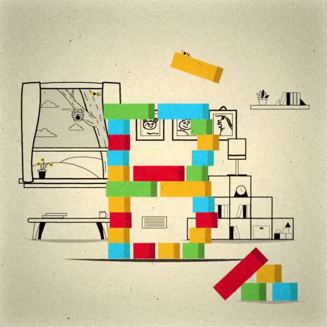 Watch and share Building Blocks And Bees GIFs on Gfycat