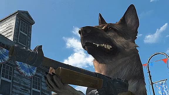 Watch and share Best Sisters Fallout Dogmeat GIFs by conflagrated on Gfycat