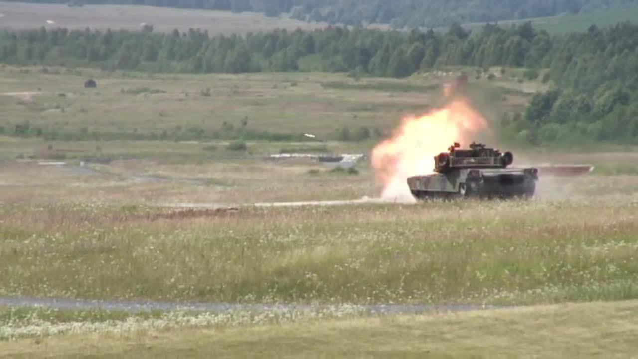 militarygfys, M1 Abrams gunnery practice. (reddit) GIFs