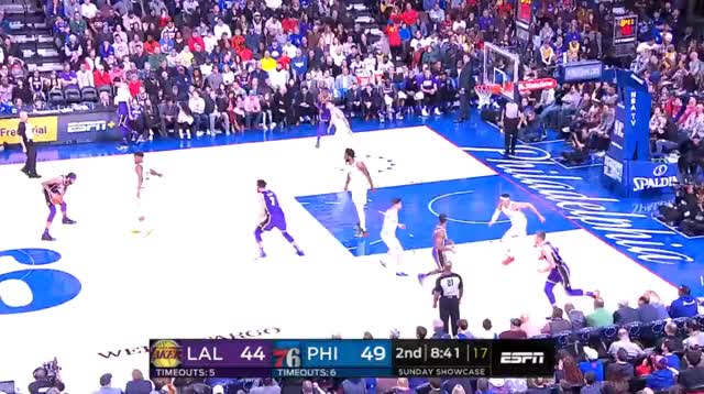 Watch and share Los Angeles Lakers GIFs and Philadelphia 76ers GIFs by prejuce on Gfycat