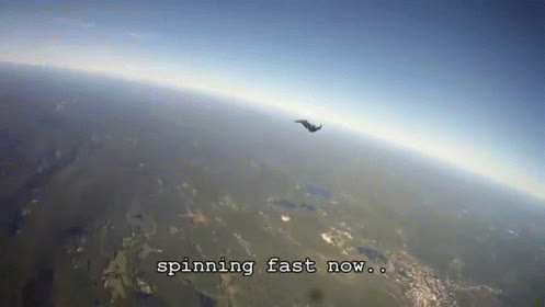 Skydiving Spinning Fail GIFs