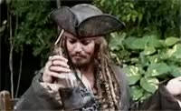 cheers, jack sparrowe, johnny depp, pirates of the carribbean, rum,  GIFs