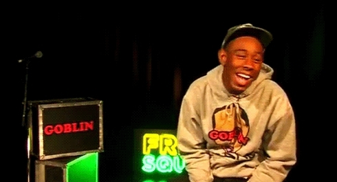 haha, laughing, tyler the creator, tyler the creater GIFs