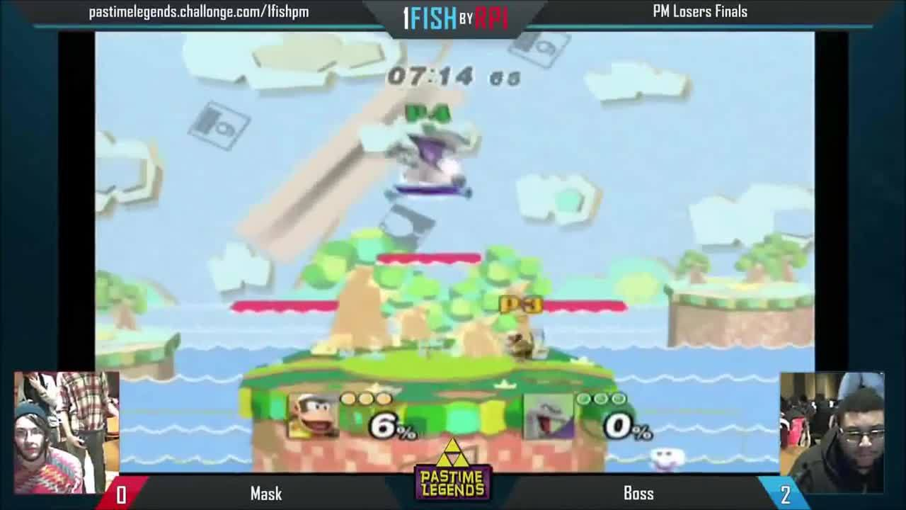 ssbpm, 1FISH Project M Losers Finals: Boss (Diddy Kong) vs Mask (Charizard) (reddit) GIFs