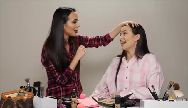 Watch Instagram Makeup Challenge - Merrell Twins GIF on Gfycat. Discover more related GIFs on Gfycat