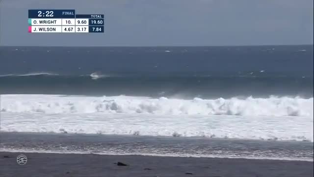 Watch [surfing] Owen Wright scores his second perfect 10 in the Fiji Pro to get a perfect score of 20/20 (reddit) GIF by @esjayiha on Gfycat. Discover more HighlightGIFS, highlightgifs GIFs on Gfycat