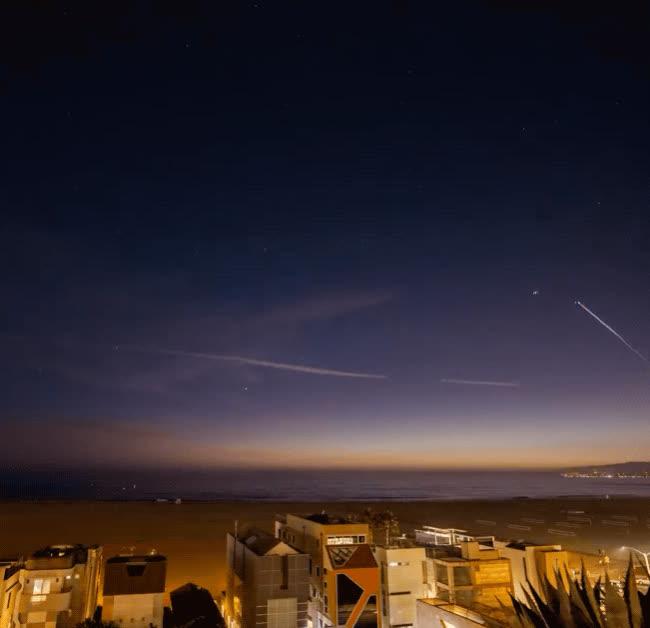 elonmusk, nasa, space, spacex, SpaceX falcon9 Santa Monica GIFs