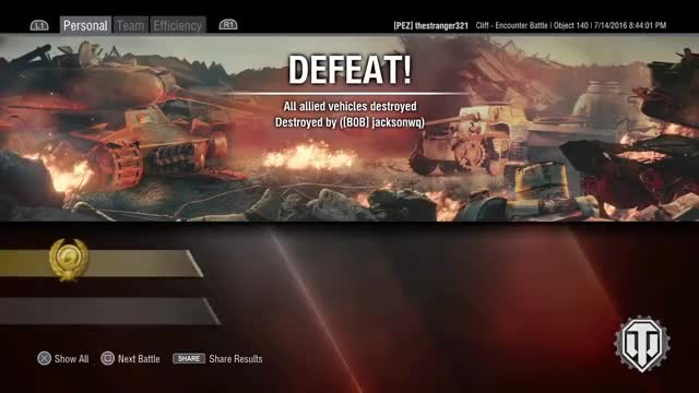 Object 140 - Down to the last! - WoT Console (Guest Replay) GIF