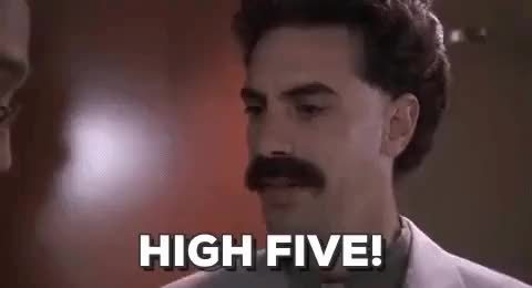 Watch this borat GIF on Gfycat. Discover more borat, high five, sacha baron cohen GIFs on Gfycat