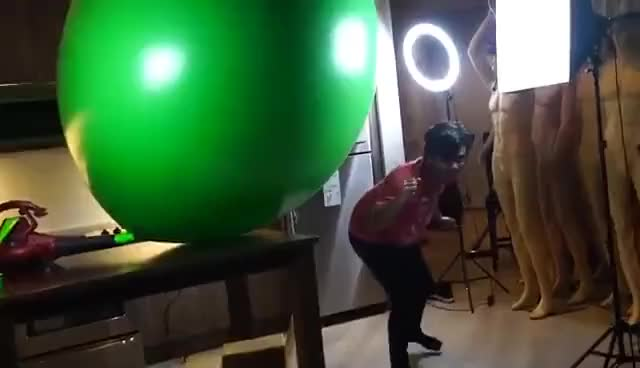 Watch and share EXPLODING A GIANT BALLOON! GIFs on Gfycat