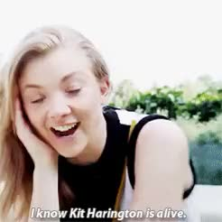 Watch and share Natalie Dormer GIFs and Kit Harington GIFs on Gfycat