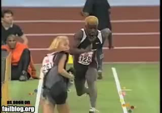 Watch Sprinter Crashes Into Woman GIF on Gfycat. Discover more Crashes, Into, Sprinter, Woman GIFs on Gfycat