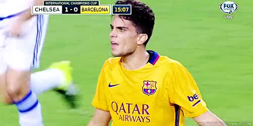 Watch and share Fc Barcelona GIFs and Marc Bartra GIFs on Gfycat
