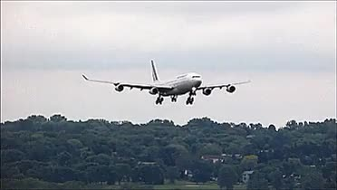 Watch and share A340 Bounces On Landing (reddit) GIFs on Gfycat
