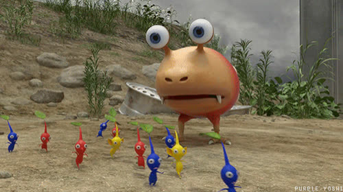 GameCube, Pikmin, blue Pikmin, bulborb, cute, red Pikmin, yellow Pikmin, 7CE0A27A-3AD5-4C64-A374-2392F06CB098 GIFs
