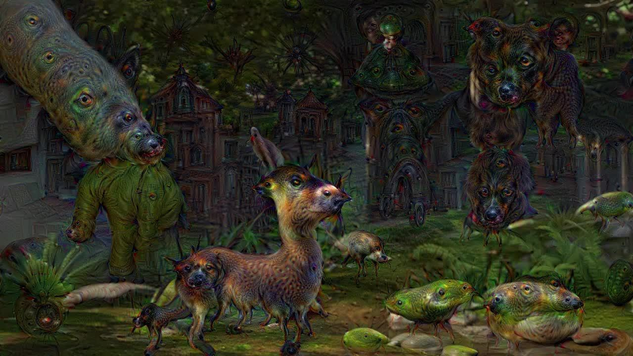 deepdream, Shrek having a bad trip #deepdream GIFs