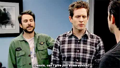 Watch and share Dennis Reynolds GIFs and Charlie Kelly GIFs on Gfycat