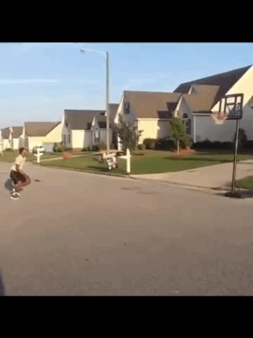 Watch and share Impressive Long Distance Dunk GIFs on Gfycat