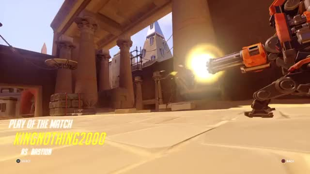 Watch Triple? GIF by KingNothing2000 (@kingnothing2000) on Gfycat. Discover more bastion, overwatch, trending GIFs on Gfycat