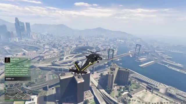 Watch and share GTA Online Helicopter Ditch GIFs by velesath on Gfycat