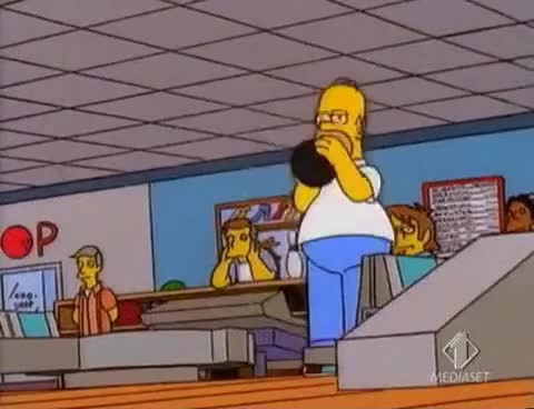 Watch and share Homer Simpson GIFs and Bowling GIFs on Gfycat
