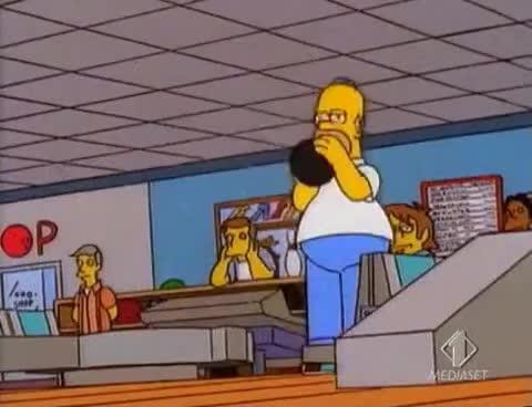 bowling, homer, homer simpson, Homer bowling GIFs