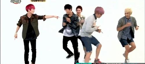 Dance shit get hit, Teen top, Weekly Idol, mhmm, Daniel the Rebel GIFs