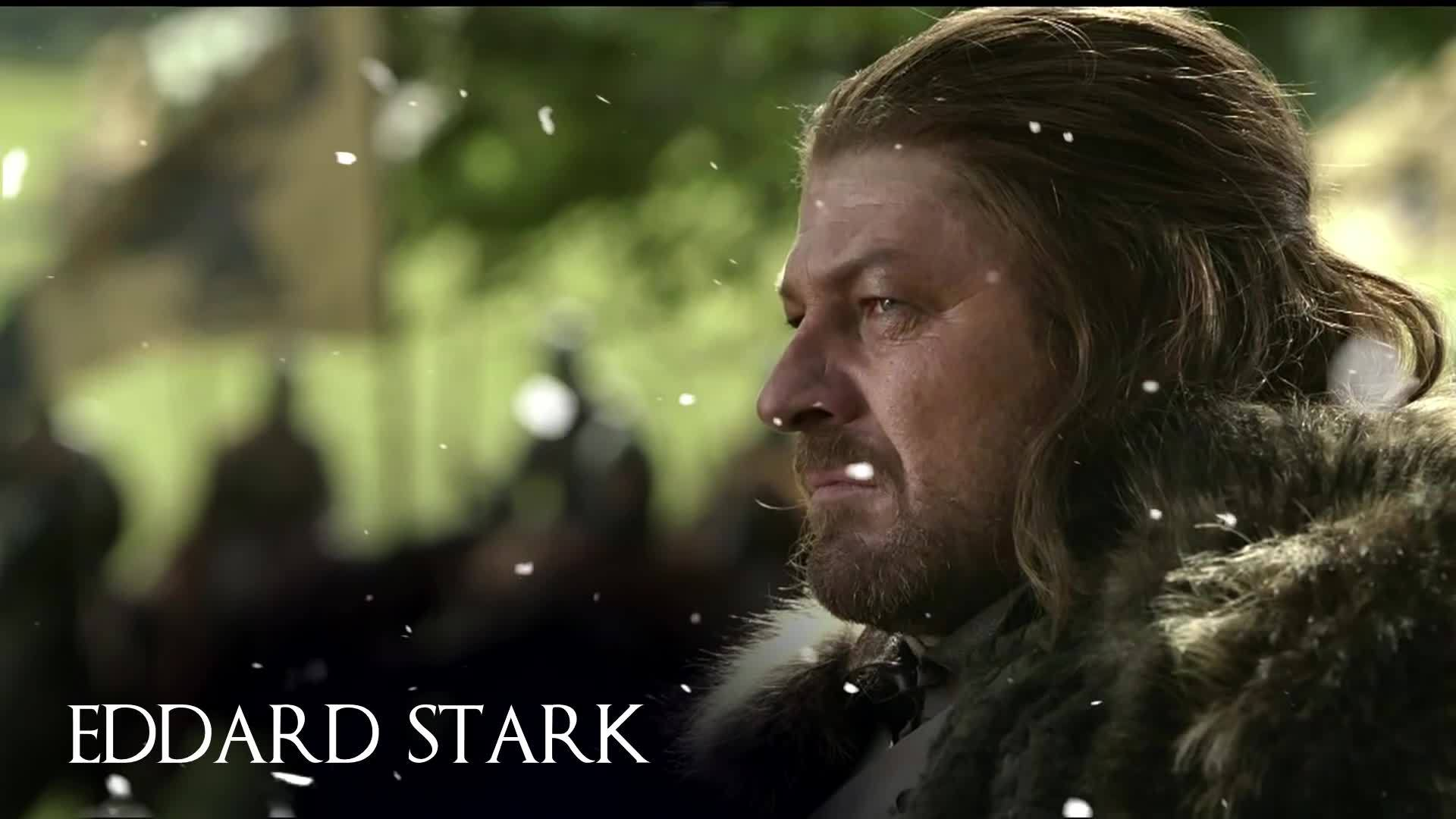 game of thrones characters, gameofthrones, white walkers, Ned Stark as a White Walker GIFs