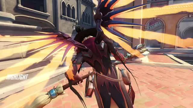 Watch and share Overwatch GIFs and Mercy GIFs by furiousipaduser on Gfycat
