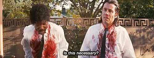 Watch The Wolf:StripJules: All the way? The Wolf: Toyour bare ass GIF on Gfycat. Discover more Harvey Keitel, Pulp Fiction*, funny, gif, john travolta, justamoviejunkie, movie, pulp fiction, quentin tarantino, samuel l jackson, strip GIFs on Gfycat