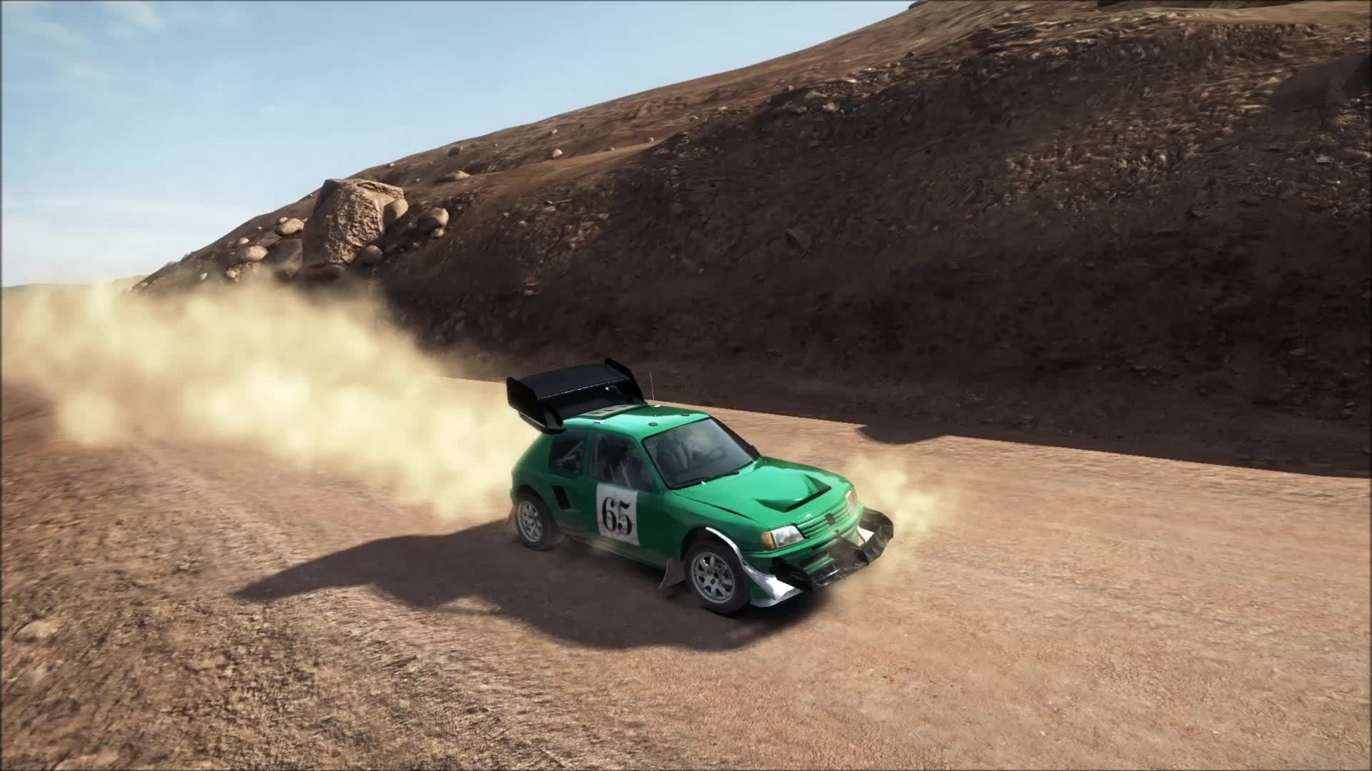dirtgame, Strange and disconcerting 205 hillclimb glitch (reddit) GIFs