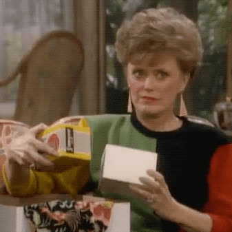 Rue McClanahan, blanche devereaux, confused, golden girls, what, wtf, Blanche Confused GIFs