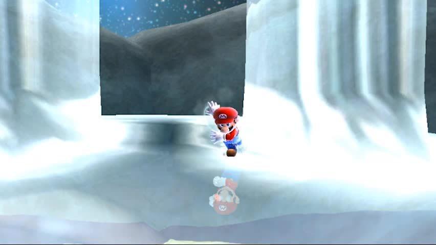 gaminggifs, Super Mario Galaxy 2 - Wii - Fabulous Iceskating Mario GIFs